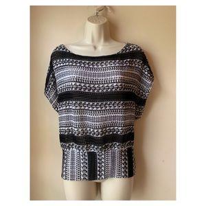 Sharagano Tops - Sharagano | knit batwing top banded waist sz laege